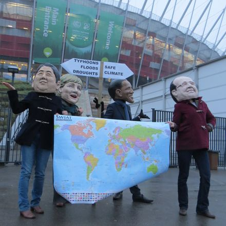 activists at warsaw climate talks
