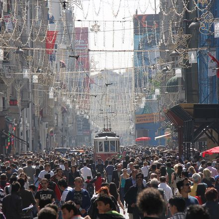 Crowded Istiklal Avenue in 2010