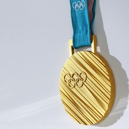 2560px gold medal of the 2018 winter olympics in in pyeongchang