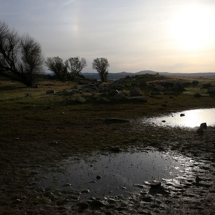 Small pools of water stand on a dry section of Folsom Lake on March 20, 2014 in Granite Bay, California. Now in its third straight year of drought conditions, California is experiencing its driest year on record, dating back 119 years, and reservoirs thro