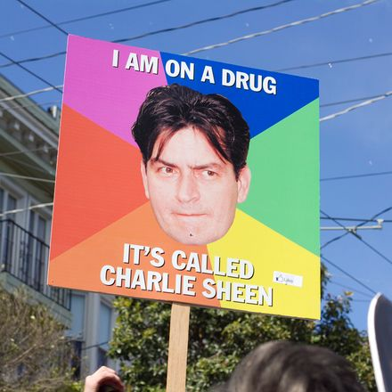 charlie sheen sign