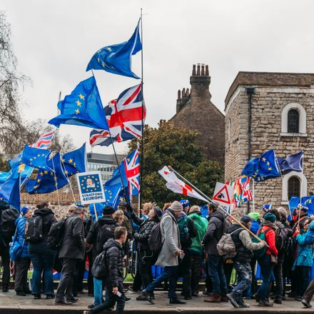 anti brexit protesters shutterstock 1342204046
