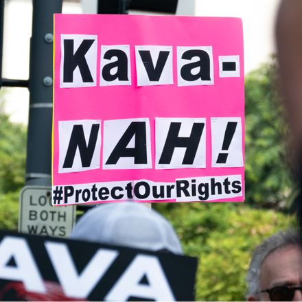 brett kavanaugh protest sign shutterstock 1164889747