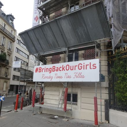 bring back our girls sign in paris nigeria chibok wikimedia commons