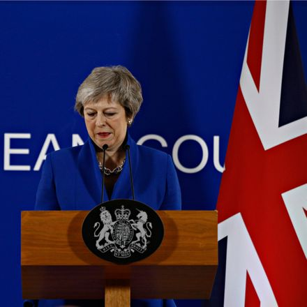 british prime minister theresa may brussels shutterstock 1256641735