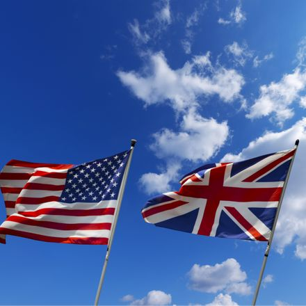 british and american flags shutterstock 191934467