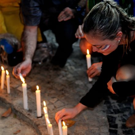 candles for paris attacks shutterstock 341095121