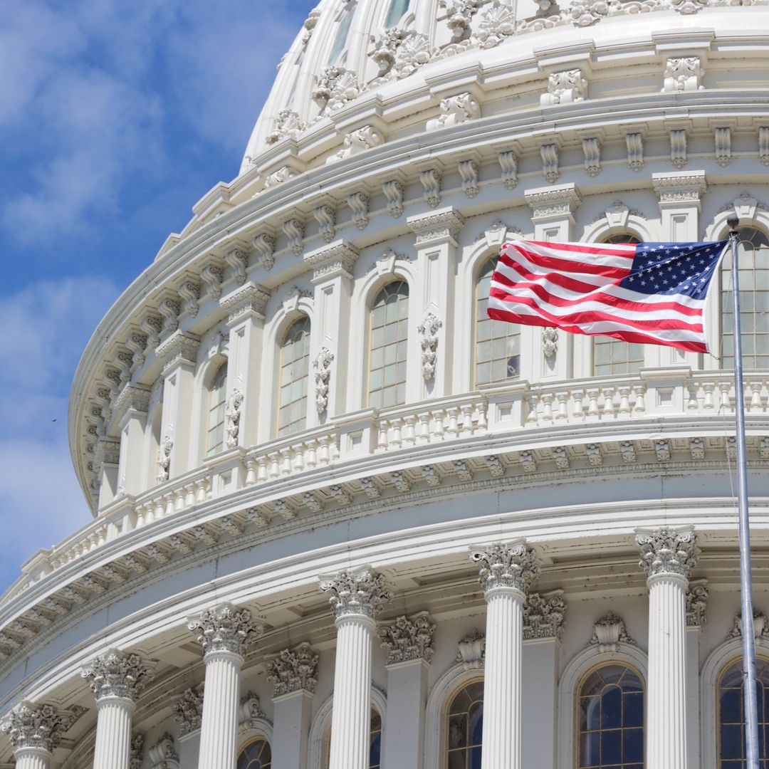 capitol dome with us flag shutterstock 544847110
