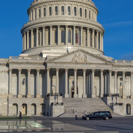 capitol with hearse out front shutterstock 1167895129
