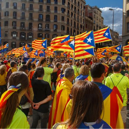 catalonia independence demonstration shutterstock 714015409