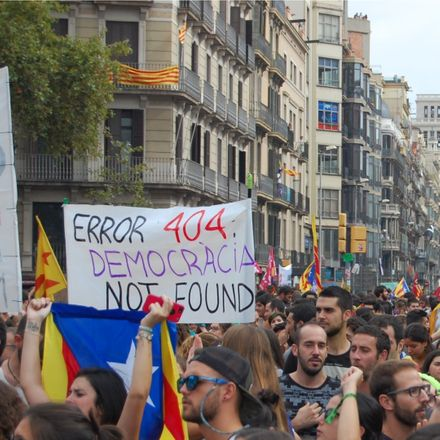 catalonia independence movement democracia not found shutterstock 727504867