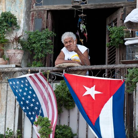 cuban and us flags in cuba getty 461629062