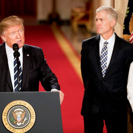 donald trump with neil gorsuch 01 31 17