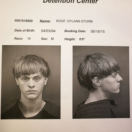 In this handout photo provided by the Charleston County Sheriff's Office Detention Center, Dylann Storm Roof is seen in his booking photo after he was apprehended as the main suspect in the mass shooting at the Emanuel African Methodist Episcopal Church t