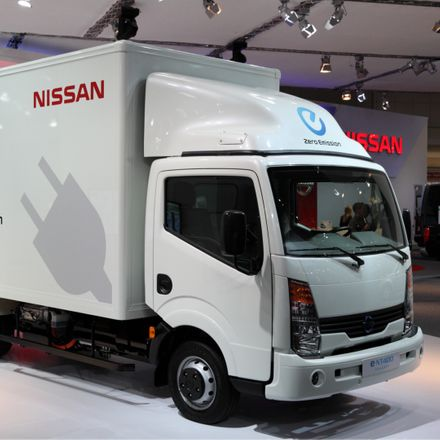 electric truck nissan square shutterstock 113400181