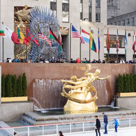 game of thrones chair at 30 rock in new york shutterstock 1359067238