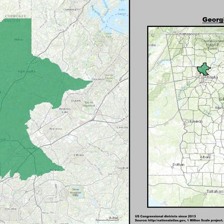 georgia us congressional district 6 since 2013 full