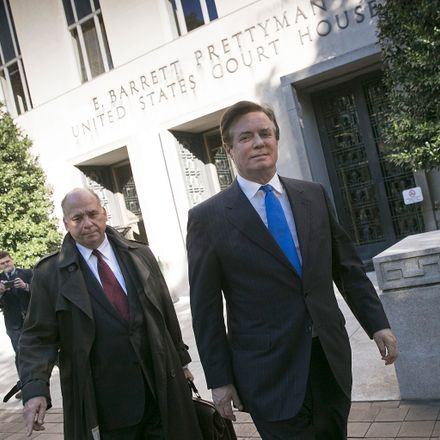 Former Trump campaign manager Paul Manafort pleaded not guilty yesterday for federal charges of money laundering and conspiracy. Source: Getty