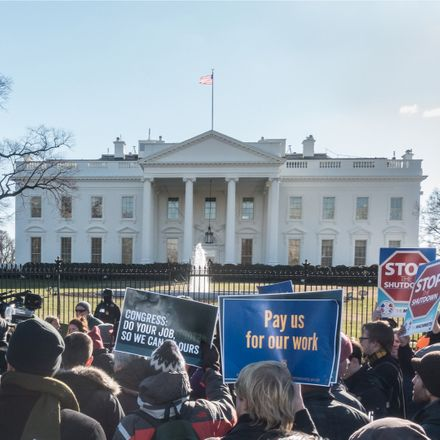government shutdown protest at white house shutterstock 1280533534