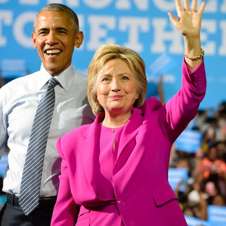 hillary clinton and obama shutterstock 448299589