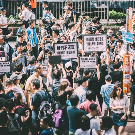 hong kong extradition law protests shutterstock 1416523730