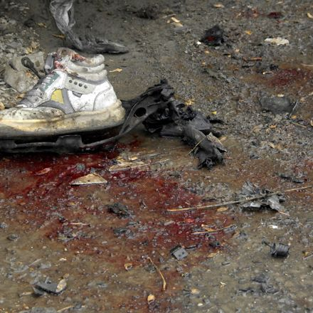 kabul bombing aftermath shoe isaf nato flickr