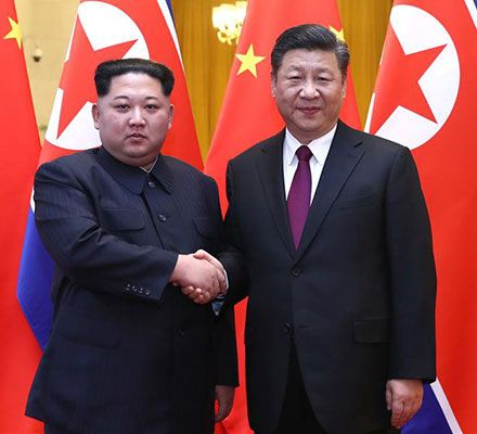 kim jong un and xi jinping chinese government