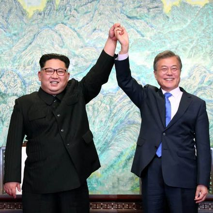 kim and moon summit from president's website