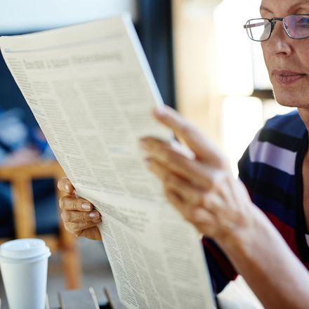 newspaper readingshutterstock 622114835