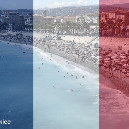 nice beach w french flag overlay shutterstock 452680780