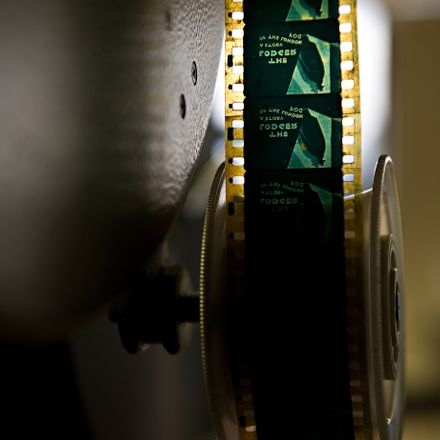 A close-up view of an original projection copy of 'The Lodger' is shown at the BFI (British Film Institute) film archive in Berkhamsted, Hertfordshire on July 23, 2010