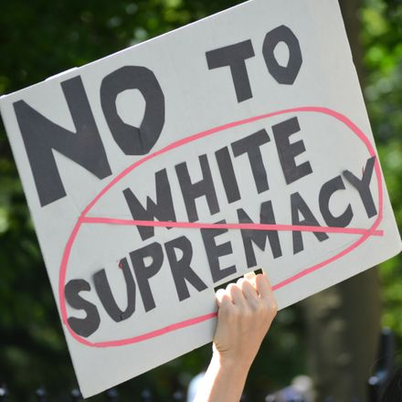 no to white supremacy sign shutterstock 657670060