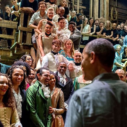 obama meets hamilton musical company