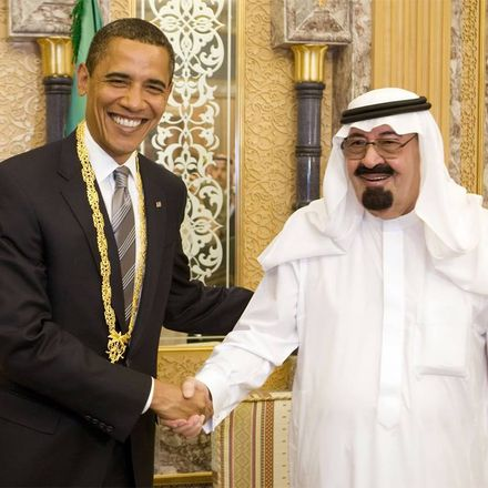 obama with saudi king abdullah and medal wikimedia commons