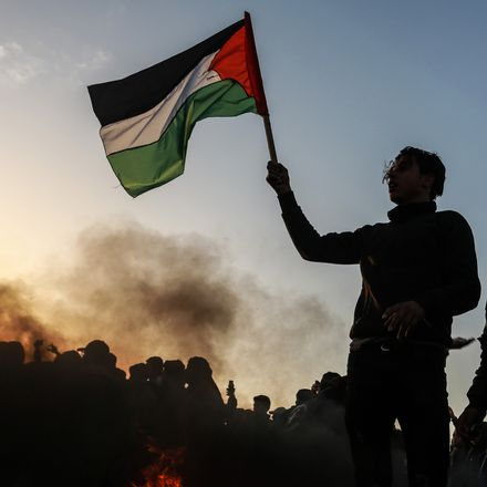 palestinian flag israeli conflict shutterstock 1295623465