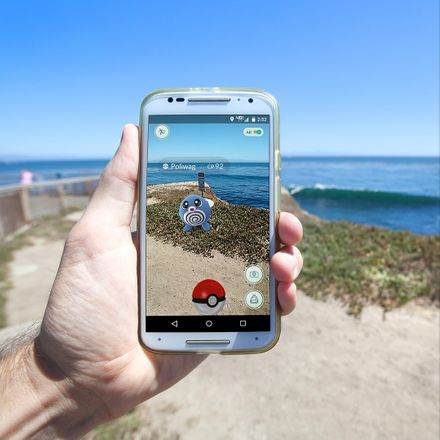 pokemon go at seaside shutterstock 450423982
