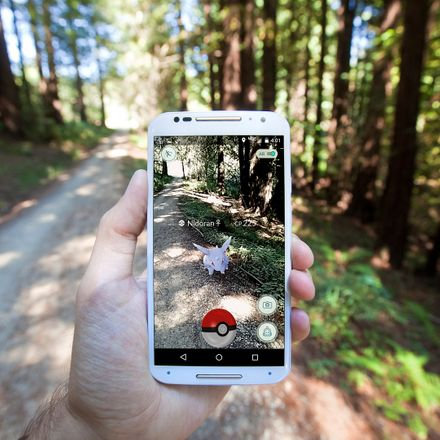 pokemon go in the woods shutterstock 451598275