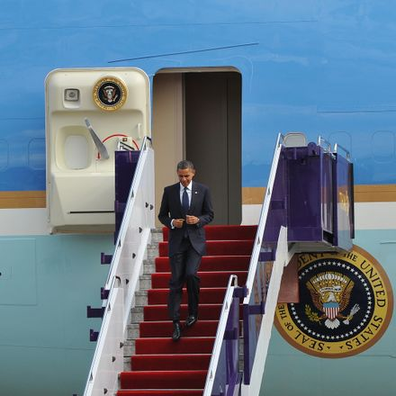 president obama leaving air force one shutterstock 156230327
