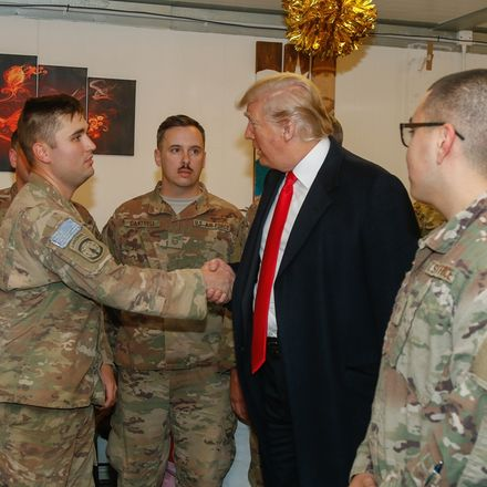 president trump visits troops in iraq resized 5002822