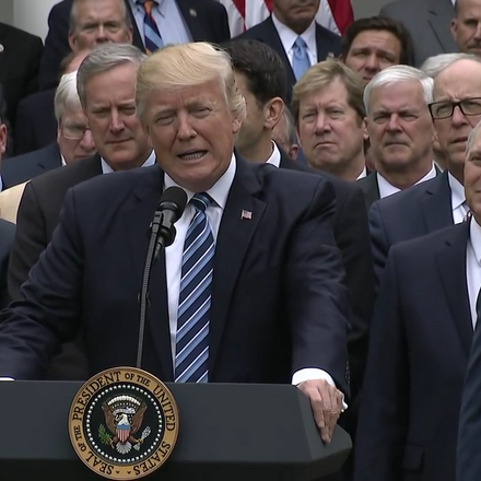 president trump with republicans following the house passage of the american health care act