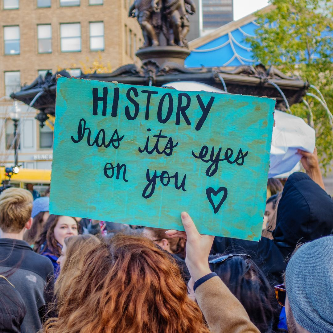 protest history has its eyes on you shutterstock 514959637