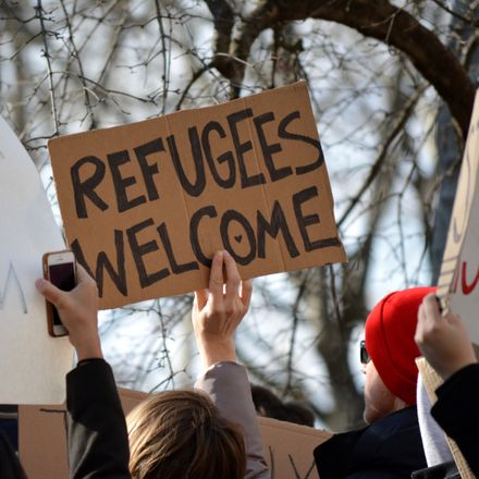 refugees welcome sign at immigration protest shutterstock 567858913 (1)