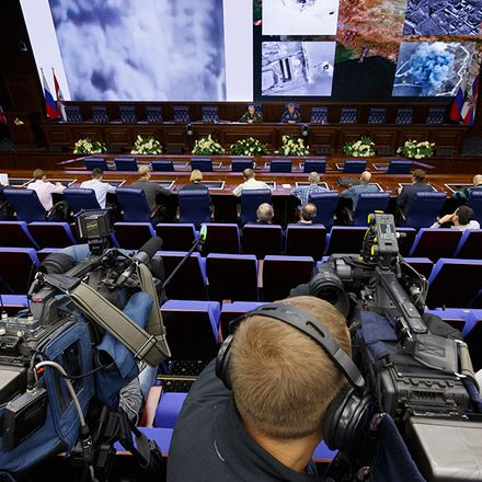 russian military press conference on syria