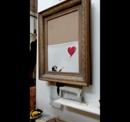 Banksy, Love is in the Bin, Girl with Balloon