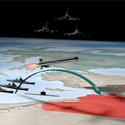 syria cruise missile attack graphic shutterstock 153734492