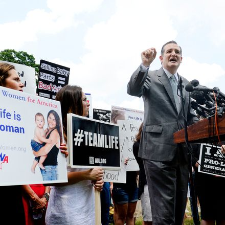 ted cruz planned parenthood funding cut rally getty 482210484