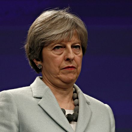 theresa may not smiling shutterstock 1047260560