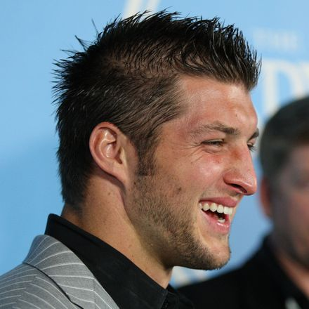 tim tebow laughing shutterstock 57120373