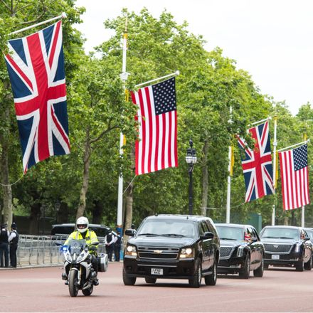 trump london motorcade shutterstock 1415091257