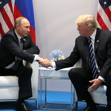 trump putin wide handshake shot from first meeting at g 20 in hamburg russian office of the president